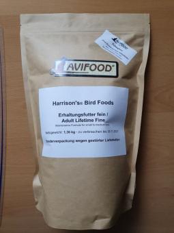 Erhaltungsfutter fein (Adult Lifetime Fine), 1,36 kg - Sonderverpackung wegen gestörter Lieferketten